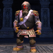 This outfit uses shoulders, boots, and leggings from one set, and chest and gloves from a second set.
