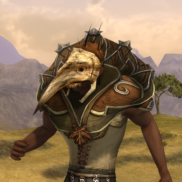 Fearsome mask of the mûmak