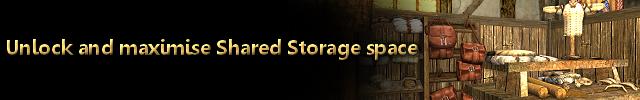 Heading unlock and maximise shared storage space