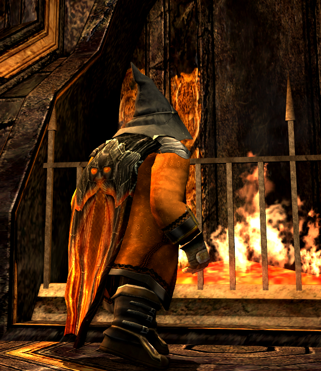 He spent the autumn nights gazing into the hearth-flames