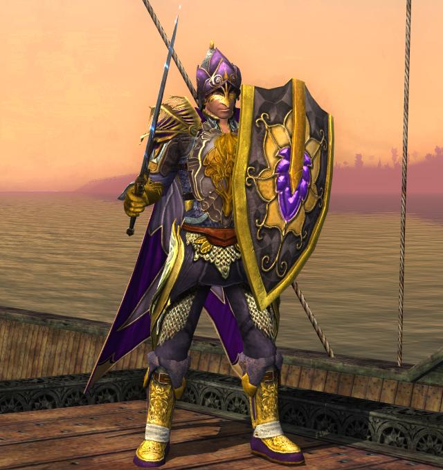 His sword of steel was valiant